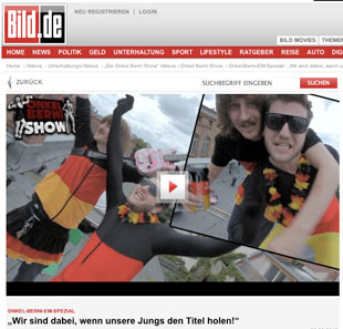 Wear Your Flag in der Onkel-Berni-Show - Bild.de - 06. Juni 2012