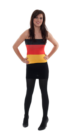 Tube Top Schwarz Rot Gold