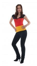 Breitträger Top Deutschland, schwarz, rot, gold