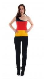 Schulter Top Deutschland, schwarz, rot, gold