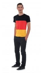 V-Neck Deutschland Shirt, Herren, schwarz, rot, gold