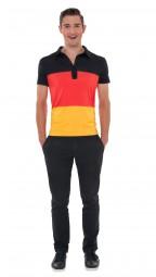 Poloshirt Deutschland, Herren, schwarz, rot, gold