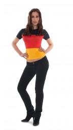 T-shirt Deutschland, Damen, schwarz, rot, gold