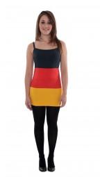 Spaghetti Deutschland Kleid, schwarz, rot, gold