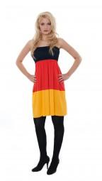 Babydoll Deutschland Kleid, schwarz, rot, gold