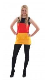Tube Deutschland Kleid, schwarz, rot, gold