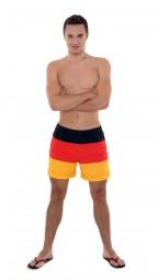 Shorts Deutschland, Herren, schwarz, rot, gold