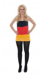 Tube Top Deutschland, schwarz, rot, gold