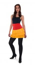 Sommer Deutschland Kleid, schwarz, rot, gold
